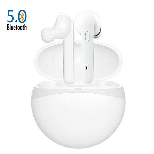 Cuffie Senza Fili Bluetooth 5.0 Super Bass True Wireless Sport In-ear Auricolari 40 Ore Playtime IPX4 Impermeabile per IOS Android con Due Microfono e Custodia di Ricarica Portatile