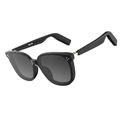 WGP Smart Glasses Wireless Bluetooth Sunglasses Open Ear Audio Driving Sunglasses Speaker Outdoor Glasses Bluetooth Compatible for All Smart Phones (Black)