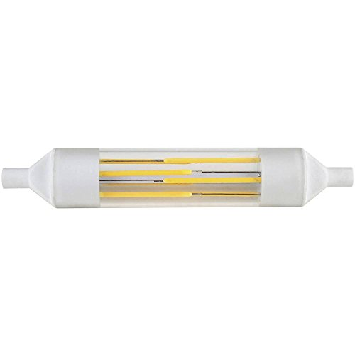 Diodor LED filamento con 220–240V AC, diámetro de 20x 118mm R7s base, 6W, 620lumens salida de luz, COOL dio ledr7sfil 118W