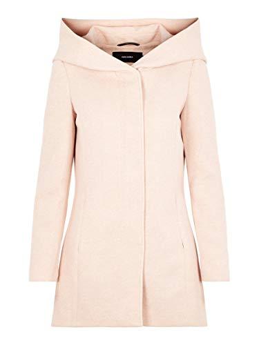 VERO MODA Vmverodona LS Jacket Noos Abrigo, Rosado (Mocha Mousse Detail:MELANGE), 40 (Talla del...