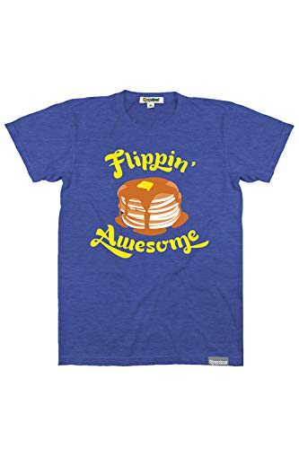 Tipsy Elves Funny T Shirts for Men Heather Blue Guy's Flippin' Awesome Tee Size Small