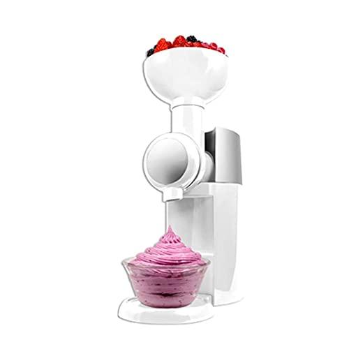 SADWF Máquina para Hacer Helados, Sorbetes Portátiles y Máquina de Yogur Helado con Temporizador de Cuenta Regresiva, Uso Doméstico para Hacer Postres de Frutas Congeladas (Color : White)