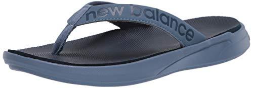 New Balance Women's 340v1 Thong Sandal, Black/Plum, 5 B US