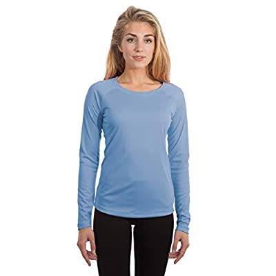 Vapor Apparel Women's UPF 50+ UV Sun Protection Long Sleeve Performance Slim Fit T-Shirt for Sports and Outdoor Lifestyle, Large, Columbia Blue