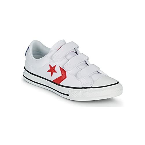 Zapatillas CONVERSE Lona Blanco Y Rojo con Velcro - 35