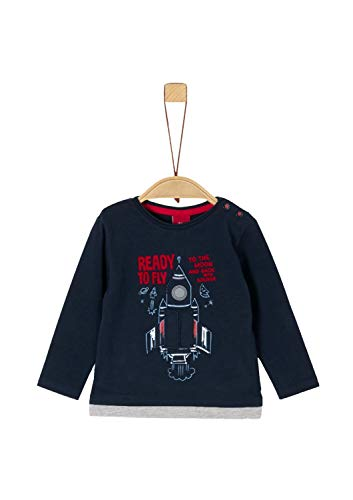 s.Oliver Baby-Jungen 65.911.31.7734 Langarmshirt, Blau (Dark Blue 5952), (Herstellergröße: 80)