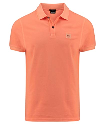 BOSS Mens Prime Polo Shirt, Bright Orange (827), L