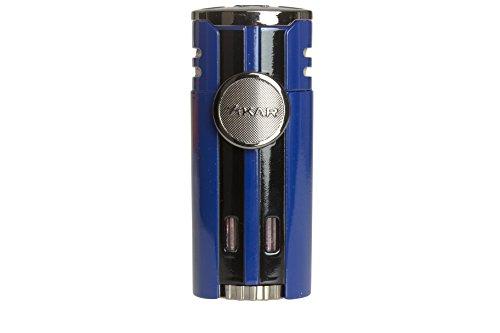 Encendedor de cigarrillos HP4 Quad Flame de alto rendimiento en una atractiva caja de regalo, Azul