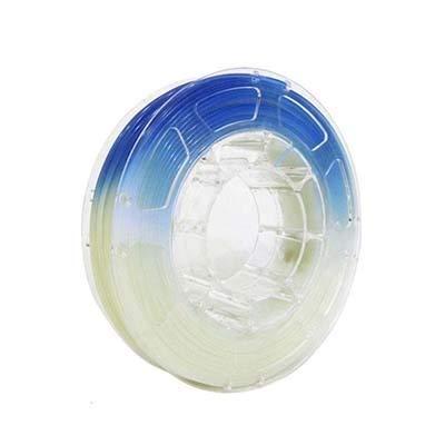 Impresora 3D Filamento, UV Cambio del Color Ligero de filamento, PLA filamento de 1,75 mm Impresora 3D +/- 0,03 mm, 1 kg (2,2 Libras) del Carrete (Color : White to Blue)