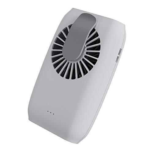 Camisin Ventilador portátil USB de mano, 2000 mAh, recargable, pequeño ventilador de refrigeración, color blanco