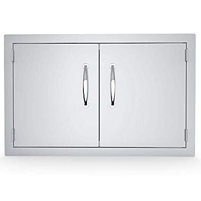 SUNSTONE A-DD33 33' Double Door Flush Mount, 33x21x1.625, Stainless Steel