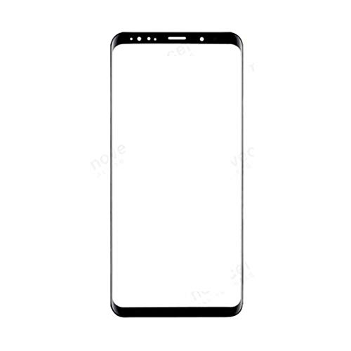 Front Glass Lens Voor Samsung S9 Plus LCD display buitenste touch panel scherm glas vervanging (zwart)