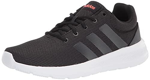 adidas Men's Lite Racer CLN 2.0 Running Shoe, Black/Carbon/Solar Red, 12