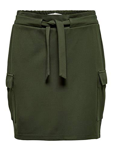 ONLY Damen ONLPOPTRASH Cargo Belt Skirt PNT Rock, Forest Night, L