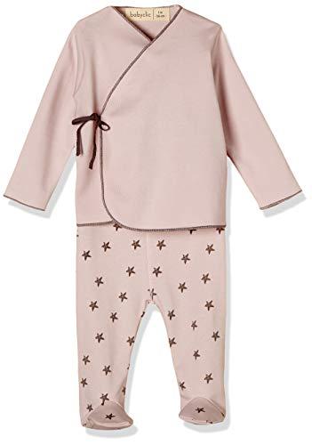 Babyclic Jubon + Polaina Little Star Rosa - Ropa Y Accesorios De Bebe
