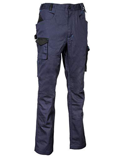 Cofra V566-0-02.Z56 MOMPACH Hose, 64% Baumwolle, 34% Polyester, 2% Elasthan, 250G Marineblau/Schwarz, Größe 56