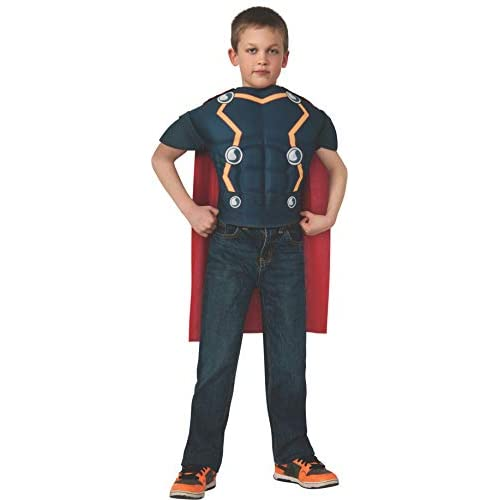 Rubie's Marvel Universe Avengers Assemble Thor Muscle-Chest Costume Shirt with Cape