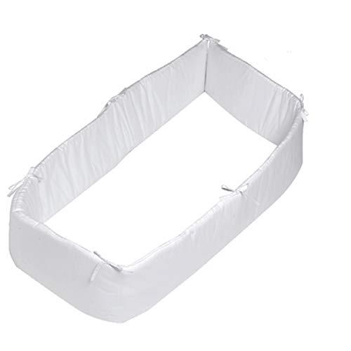 Pirulos 43100001 - Protector para cuna, algodón, color blanco,