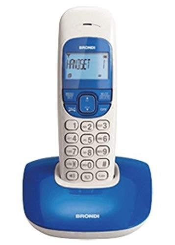 Brondi Nice Telefono Cordless, Bianco Blu