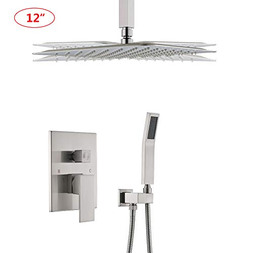 STARBATH Ceiling Mount Shower System with High Pressure12' Rain Shower Head and Handheld, Shower...