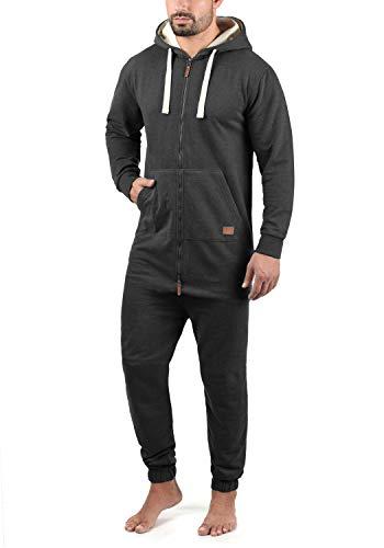 Blend Salinho Herren Overall Jumpsuit Mit Kapuze, Größe:L, Farbe:Charcoal (70818)