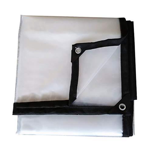 HHM Lona Transparente con Ojales y Bordes Reforzados Lonas Impermeables de plástico Grueso de 5 milipulgadas para Lona de toldo, Bote, Cubierta de Piscina (Color : Clear, Size : 2m×3m)