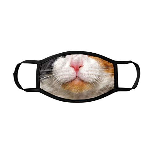 Wankting Europe 2020 Face Wear Adult Cat Print Niedliches Cartoon-Muster Waschbares Earloop Anti-Spitting Handmade Cover Gesichtsprodukt mit Nasen-Draht