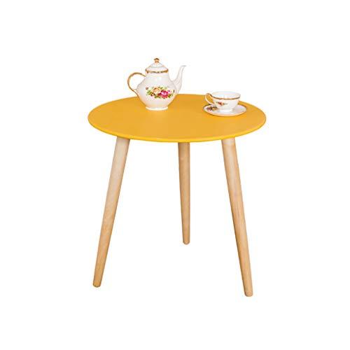 table basse Côté bois Salon de style européen Simplicité moderne Table ronde (Couleur : D, taille : 60cm*60cm)