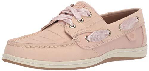 Sperry Womens Songfish Croco Nubuck Boat Shoe, Blush, 7