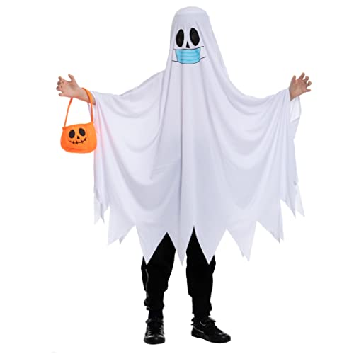 Child Unisex Mask Ghost costume (Small (5-7yr))