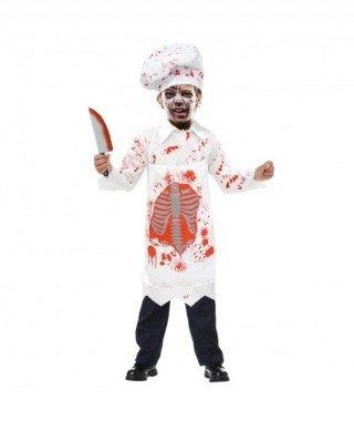 Partilandia Disfraz Zombie Cocinero para niño(7-9 años) 20116