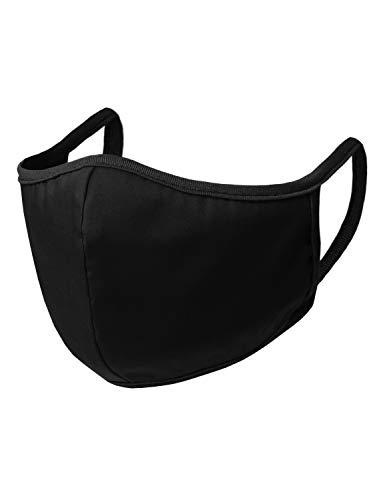 Doublju Unisex Seamless Face Mask Bandanas for Dust Outdoors Sports 3pcs