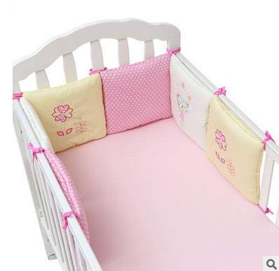 Torey 30 x 30 cm, set of 6 cotton bed linen, bed surrounds skin-friendly and comfortable bed (style: pink kitten).