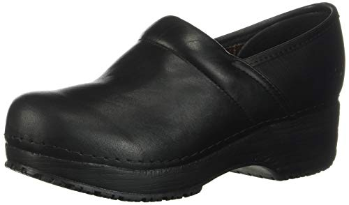 Skechers for Work Women's Clog, Black, 9 M US