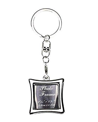 Vierkant - sleutelhanger met hanger - fotohouder - afbeelding - fotolijst - cadeau-idee - man - vrouw - unisex
