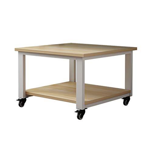 Soportes para impresoras Soporte de impresora de piso de 2 capas, escritorio de impresora móvil, utilizado en la sala de estar de la oficina máquina de escáner de fax (beige) Soporte para impresora en