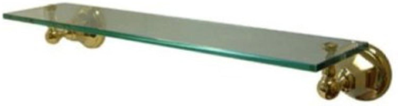 Kingston Brass BA4819PB Metropolitan Glass Shelf, Polished Brass