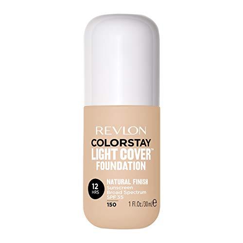 Revlon ColorStay Light Cover Liquid Foundation, Hydrating Longwear Weightless Makeup with SPF 35, Light-Medium Coverage for Blemish, Dark Spots & Uneven Skin Texture, 150 Buff, 1 fl. oz.