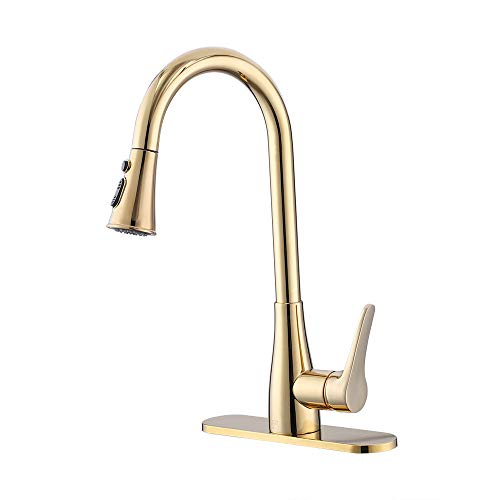 Lowest Prices! KES Singel Handle Pull Down Kitchen Faucet with Retractable Pull Out Wand cUPC NSF Ce...