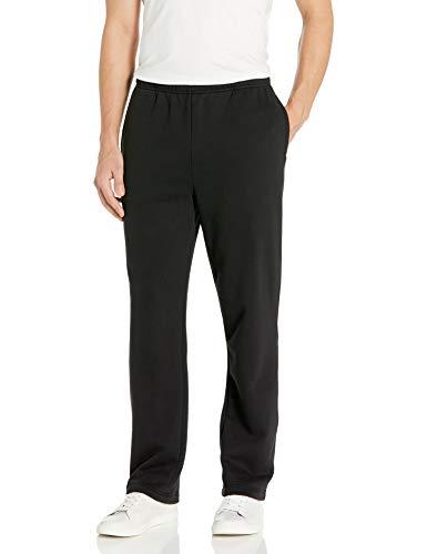 Amazon Essentials Fleece Sweatpant Unterhose, Black, Small