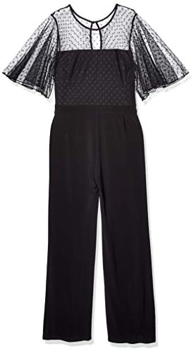Betsey Johnson Women's Plus Size Jumpsuit with Capelet, Onyx, 22W (Apparel)