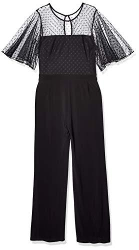 Price comparison product image Betsey Johnson Women's Plus Size Jumpsuit with Capelet,  Onyx,  14W