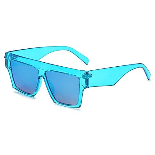 ShZyywrl Gafas De Sol De Moda Unisex Gafas De Sol Cuadradas De Moda para Mujer Y Hombre, Gafas De Sol Negras De Gran Tamaño, Gafas De Verano con Espejo Masculi