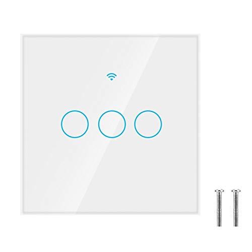 Interruptor WiFi, Panel de interruptor Wifi de control de APP de primera calidad, Escena inteligente remota Equipo electrónico Luz LED(black, European regulations)