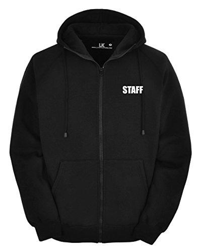 Sweat à capuche zippé pour homme Imprimé devant et dos - Noir - Large