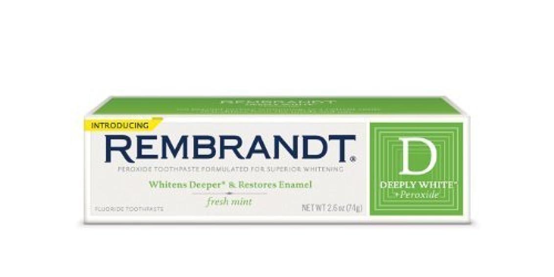陪審感謝祭ライセンスRembrandt Fluoride Toothpaste, Mint - 2.6 oz - Mint [並行輸入品]
