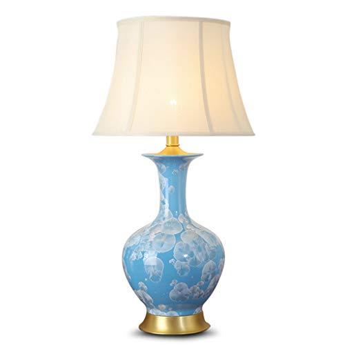 ZWeiD Kleurrijke Ceramic Table Lamp, Pastorale Decoration Creative bureaulamp Children's Room Hotel Restaurant Reading Light uit-schakelaar Button Verlichting tafellamp