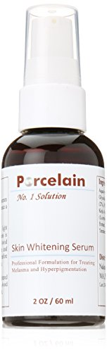 Procelain Skin Whitening Serum Hydroquinone Kojic Acid Glycolic Acid Vitamin C Licorice Mulberry Extract for Melasma, Hyperpigmentation 2oz