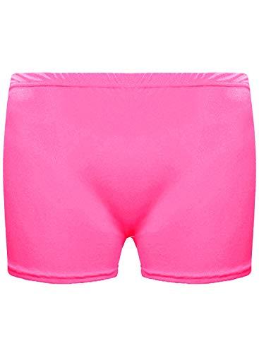 Unbranded Unbranded Mädchen Microfiber Hot Pants Kurze Hose Tanzen Fitness-Studio Stretch Shorts Alter 5-12