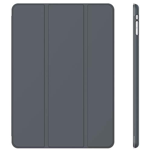 JETech Hülle Kompatibel iPad Mini 1 2 3, Schutzhülle mit Ständer Funktion & Auto Einschlafen/Aufwachen (Dunkel Grau)